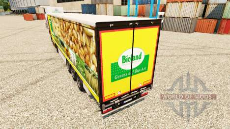 La piel Bioland para remolques para Euro Truck Simulator 2