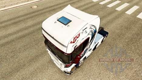 La piel Exclusivo en el tractor Scania para Euro Truck Simulator 2