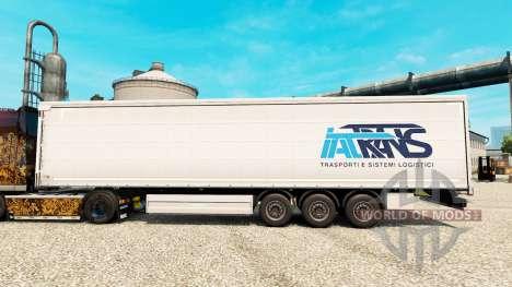 La piel Trans IAT remolques para Euro Truck Simulator 2