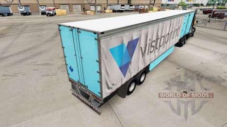 La piel de Vistaprint en una cortina semi-remolq para American Truck Simulator