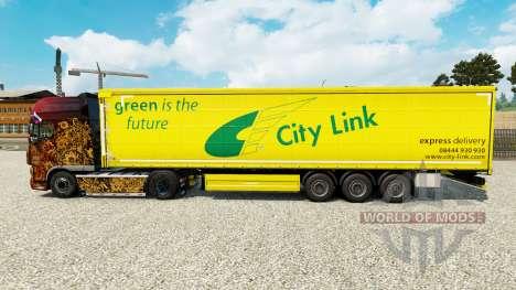 La piel de la Ciudad en el Vínculo de una cortin para Euro Truck Simulator 2