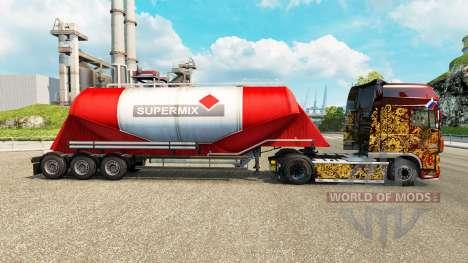 La piel Supermix de cemento semi-remolque para Euro Truck Simulator 2