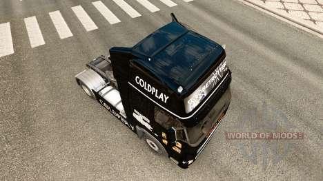 Coldplay piel para camiones Volvo para Euro Truck Simulator 2