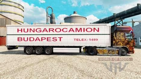 La piel Hungarocamion Budapest en la semi para Euro Truck Simulator 2