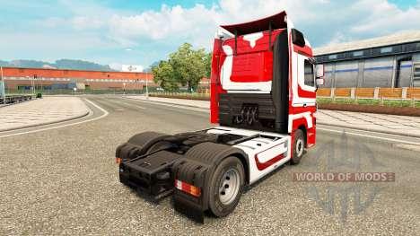 La piel Metálica para tractor Mercedes-Benz para Euro Truck Simulator 2