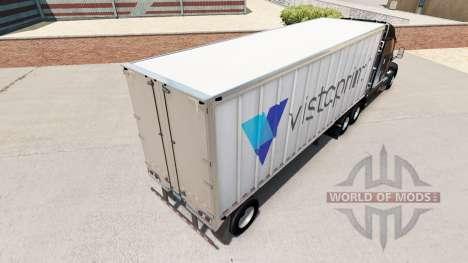 La piel de Vistaprint en un pequeño remolque para American Truck Simulator