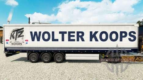 Wolter Koops de la piel para la cortina semi-rem para Euro Truck Simulator 2