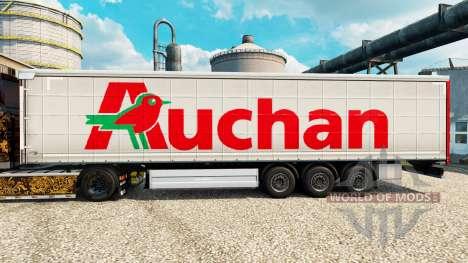 Auchan de la piel para remolques para Euro Truck Simulator 2