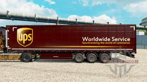 La piel United Parcel Service para remolques para Euro Truck Simulator 2