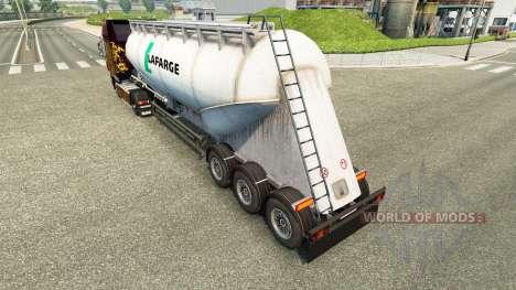 La piel Lafarge cemento semi-remolque para Euro Truck Simulator 2