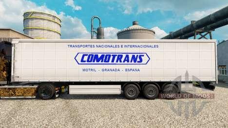 La piel ComoTrans para remolques para Euro Truck Simulator 2