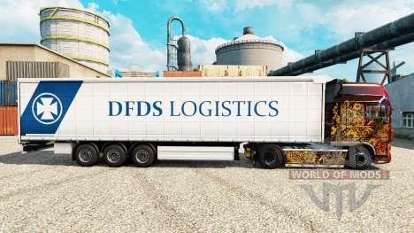 DFDS Logística de la piel para remolques para Euro Truck Simulator 2