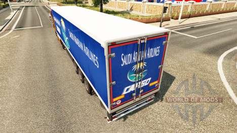 La piel Saudi Arabian Airlines para remolques para Euro Truck Simulator 2