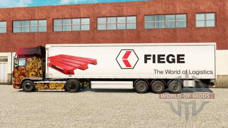 La piel Fiege en una cortina semi-remolque para Euro Truck Simulator 2