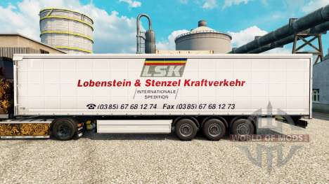 La piel LSK para remolques para Euro Truck Simulator 2