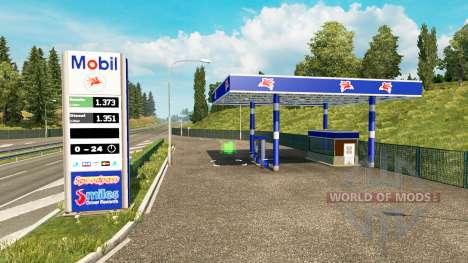 Real de las estaciones de gasolina v0.3 para Euro Truck Simulator 2