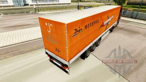 La piel de Jeju Aire para remolques para Euro Truck Simulator 2