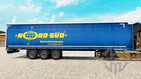 La piel NordSued en una cortina semi-remolque para Euro Truck Simulator 2