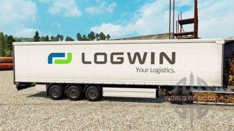 Logwin de la piel para remolques para Euro Truck Simulator 2