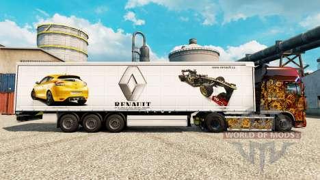 La piel de Renault F1 Team v2 en semi para Euro Truck Simulator 2