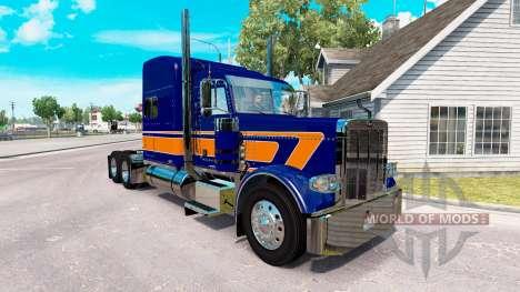 Скин Rollin Transporte v1.1 на Peterbilt 389 para American Truck Simulator