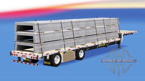 Baja de barrido con materiales de construcción para American Truck Simulator