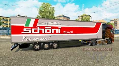 El semirremolque-el refrigerador Schoni Logístic para Euro Truck Simulator 2