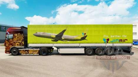 La piel Jin Aire para remolques para Euro Truck Simulator 2