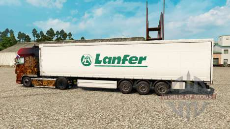 La piel Lanfer Logística para remolques para Euro Truck Simulator 2