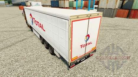La piel Total en semi para Euro Truck Simulator 2