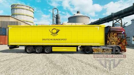 La piel de la Deutsche Bundespost para remolques para Euro Truck Simulator 2