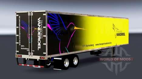 De metal semi-Vanderoel para American Truck Simulator