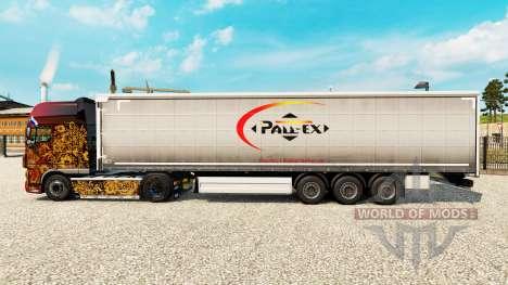 La piel de Pall-Ex a la cortina semi-remolque para Euro Truck Simulator 2