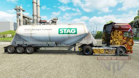 Piel de CIERVO de cemento semi-remolque para Euro Truck Simulator 2