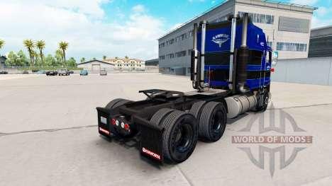 La piel en Cuero Trucking LLC tractocamión Kenwo para American Truck Simulator