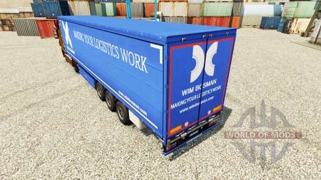 Wim Bosman piel para remolques para Euro Truck Simulator 2