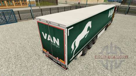 La piel en una cortina de Carga Van semi-trailer para Euro Truck Simulator 2
