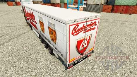 Budweiser pieles para remolques para Euro Truck Simulator 2