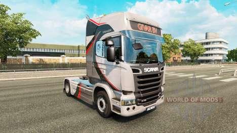 GiVAR BV de la piel para Scania camión para Euro Truck Simulator 2
