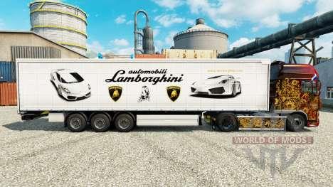 La piel Lamborghini semi-remolques para Euro Truck Simulator 2