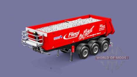 Semi-remolque tipper Fliegl Schmitz Red Power para Euro Truck Simulator 2
