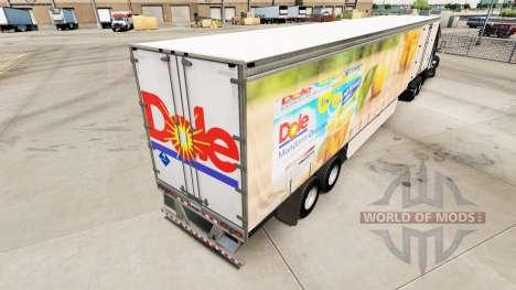La piel de Dole en una cortina semi-remolque para American Truck Simulator
