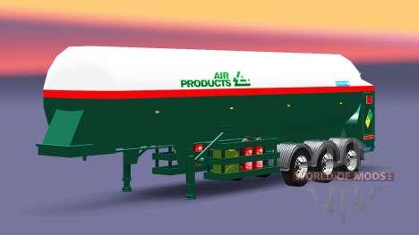 El semirremolque tanque de Aire Productos para Euro Truck Simulator 2