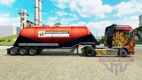 La piel Morssinkhof Groep cemento semi-remolque para Euro Truck Simulator 2