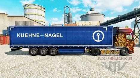 La piel Kuehne Nagel para semi-remolques para Euro Truck Simulator 2