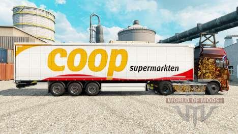 La piel Coop remolques para Euro Truck Simulator 2