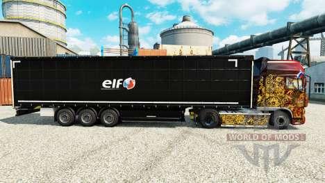 La piel Elf en semi para Euro Truck Simulator 2
