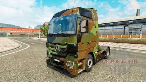 La piel de Camuflaje en camión Mercedes-Benz para Euro Truck Simulator 2