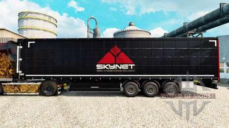 Skynet de la piel para remolques para Euro Truck Simulator 2