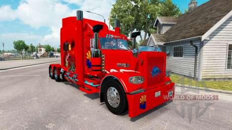 La piel de Arizona, estados UNIDOS Roja tractor Peterbilt 389 para American Truck Simulator